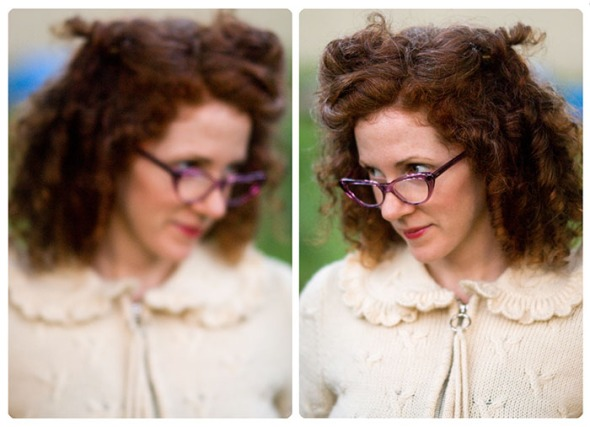 Katie Maeve Scott wearing Cutler and Gross eyeglasses